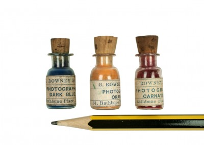 Blanxart laboratory. Pigment bottles detail - Wetplatewagon