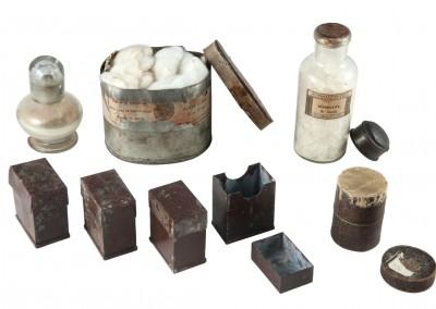 Blanxart laboratory. Chemistry bottles and boxes - Wetplatewagon