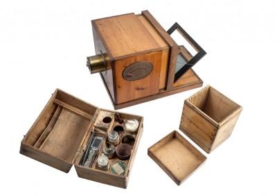 Le Daguerréotype. Daguerre - Giruox equipment from RACAB. Barcelona - Wetplatewagon